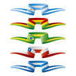 Abstract color South-America flags ribbon