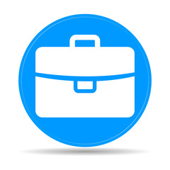 Briefcase icon, vector illustration. Flat design style