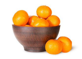 Tangerines In A Ceramic Bowl