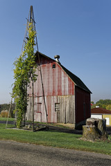 Old Barn and Partial Windmill