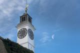 The Clock Tower, distinctive landmark of Petrovaradin fortress, poster