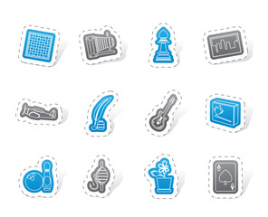 Hobby, Leisure and Holiday Icons - Vector Icon Set