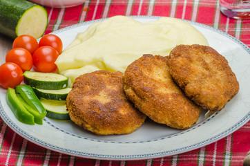 Minced meat in breadcrumbs