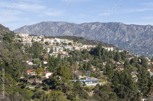 Fotobehang Los Angeles Southern California Hillside Homes