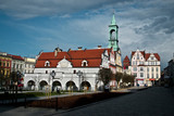 Poland, Kluczbork Buildings at the main square (Rynek).