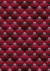 Vinous background with a classic floral pattern