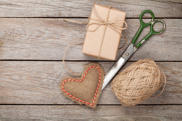 Valentines day gift wrapping