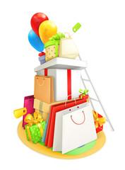 Shopping, vector illustration