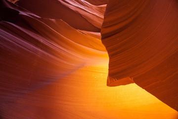 Sandstone pattern in lower Antelope canyon, Page, Arizona.