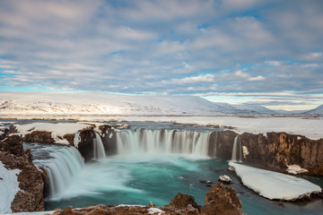Godafoss fall in the morning, Iceland