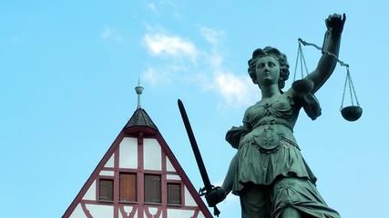 Justice Sculpture in Frankfurt
