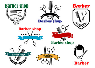 Barber shop signboard and emblemdesigns