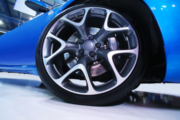 wheel of sports car