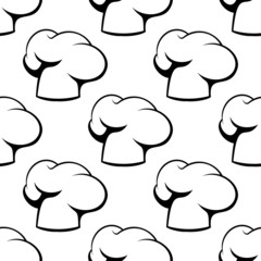 Chef toques outline seamless pattern
