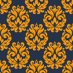Seamless damask floral tracery