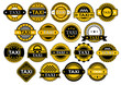 Taxi labels and banners set - 75564712