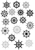 Ship steering wheels in retro style - 75564773