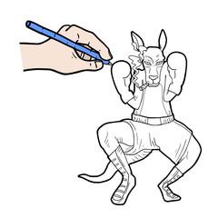 Paint kangaroo
