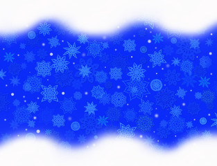 blue pattern from snowflakes for holiday card