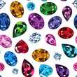 Pattern of colored gemstones - 75566151