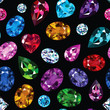 Pattern of colored gemstones - 75566153