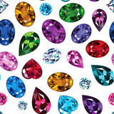 Pattern of colored gemstones