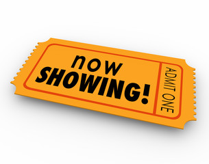 Now Showing Words Movie Ticket Pass Watch Video Online Webinar E