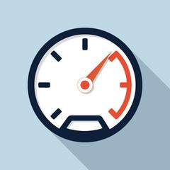 Speedometer flat icon