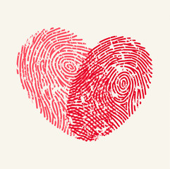 Fingerprint Love Heart