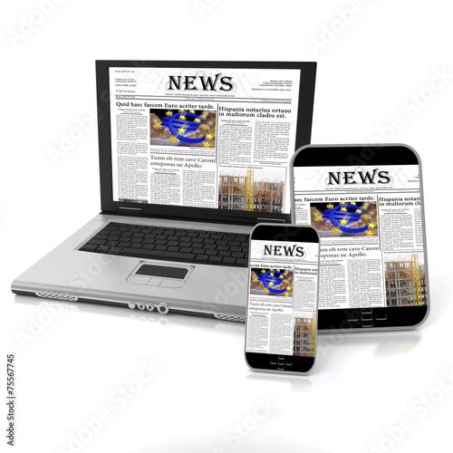 canvas print picture Online news