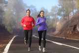 Healthy running runner man and woman workout