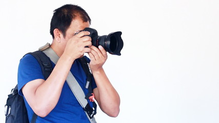 Photographer take camera