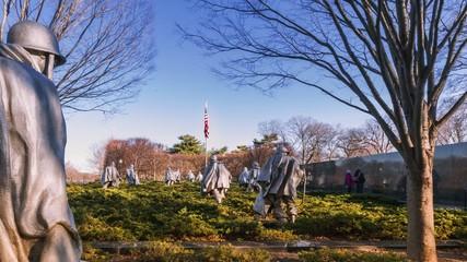 Timelapse of the Korean War Veterans Memorial