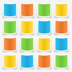 Blank Sticker Web Buttons