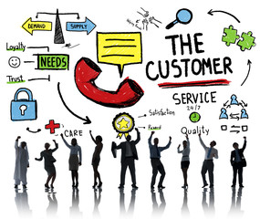 The Customer Service Target Market Support Assistance Concept