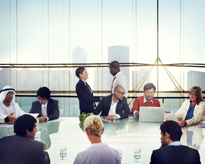 Business People Handshake Meeting Corporate Office Concept