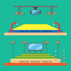 Flat design of sport stadium illustration vector