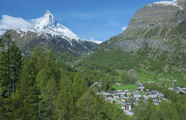 Mountain Matterhorn and Zermatt, Switzerland