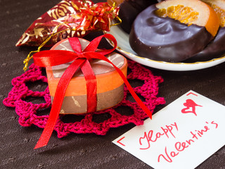 Gifts and sweets for Valentine's Day