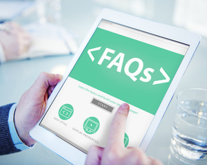 Digital Online FAQs Community Working Concept