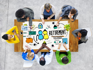 Diversity Casual People Employee Retirement Discussion Concept