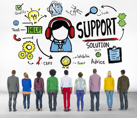Support Solution Advice Help Care Concept