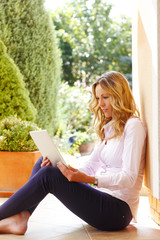 Mature business woman with laptop