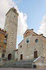 Piazza del Duomo in San Gimignano,Tuscany,Italy