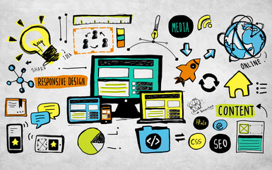Responsive Design Content Technology Idea Creativity Concept