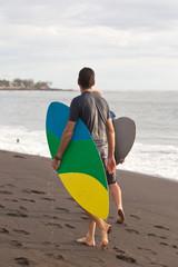 skimborder, plage de l'Etang-Salé, Réunion