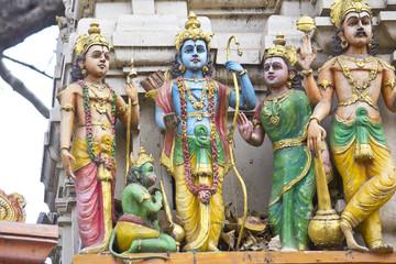 Sita, Rama, Lakshman and Hanuman