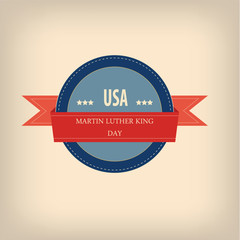 Martin Luther King day badge illustration for posters, flyers,