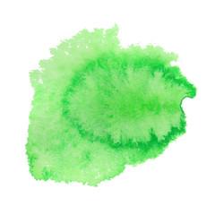 Green watercolor spot. Vector illustration.