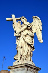Sculpture of an angel on Ponte Sant'Angelo, Rome, Italy